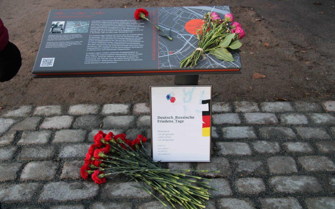 Neuer DENKORT erinnert an sowjetische Kriegsgefangene